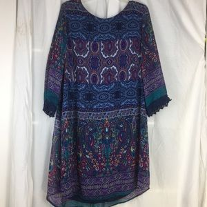 Speechless print chiffon dress